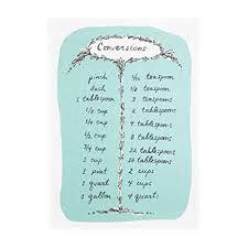 Common Conversion Chart Amazon Com Wm Measurement Conversion Chart Cotton Kitchen