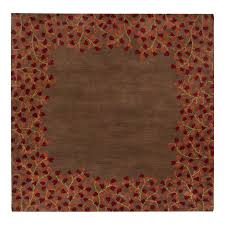 surya athena chocolate square indoor handcrafted nature area rug common 4 x 4