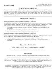 Daycare Director Resumes Sample Resume Child Care Worker Englishor Com