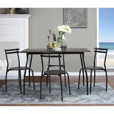Rectangle Dining Room Tables Amazoncom Coavas 5pcs Dining Set Table Kitchen Furniture Kitchen
