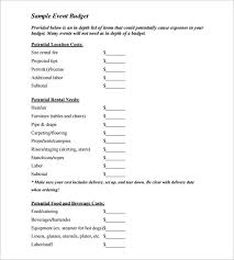 Sample Event Budget Extraordinary Budget Template 44 Free Word Excel PDF Format Download Free