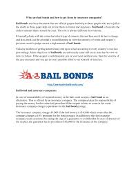 Would you like to provide additional feedback to help improve mass.gov? What Are Bail Bonds And How To Get Them By Insurance Companies