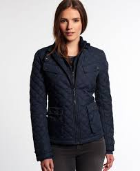 Superdry Apex Quilted Jacket - Women's Jackets & Coats & Superdry Apex Quilted Jacket Navy Adamdwight.com
