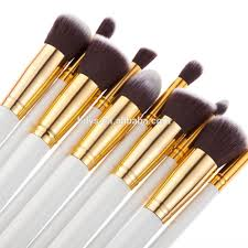 great quality professional oval high end makeup brush sets
