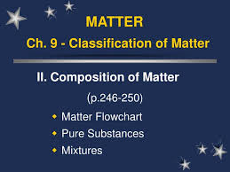 Ppt Ch 9 Classification Of Matter Powerpoint
