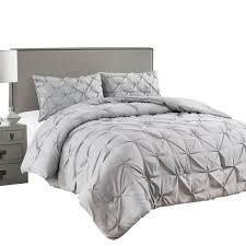 Light Gray Comforter Set Queen Jackson Hole Home 3 Pc Elegant Original Pinch Pleat Puckering Comforter Set Light Gray Queen