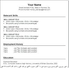 Chronological Resume Layout – Directory Resume