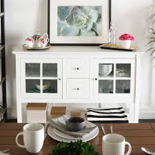 Shop 52inch White Wood TV Stand Buffet  NA Free Shipping Today  Overstockcom 10309752 White And Wood Tv Stand36
