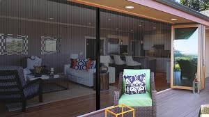 Folding patio doors with screens Sliding Doors As Seen On Houzz Nanawall Innovative Folding Patio Doors Panoramic Doors