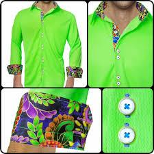 Neon Designer Dress Active Designer Dress Shirt Tropical Dream Neon Green