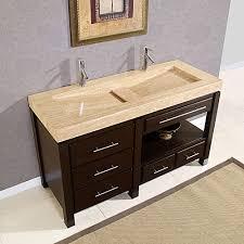 Kitchen: 60 Inch Double Sink Vanity | Bathroom Vanities And Sinks ...
