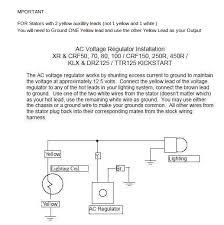 z k and lifan wiring 12 volt voltage regulator works well dirt bike type circuits