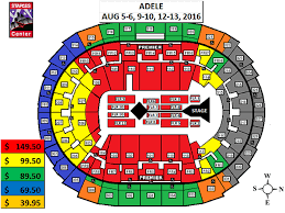Staples Center Concert Seating Chart Adele Google Search