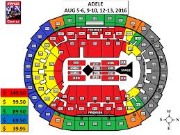Concert Staples Center Seating Chart Staples Center Concert Seating Chart Adele Google Search