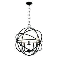 black rustic chandelier 5 light rubbed oil multi ring orb bronze chandelier