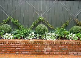 Front Garden Brick Wall Designs Enchanting Bed Design Topiary Espalier Raised Brick Planter Beautiful