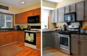 Kitchen, Inspiring Painting Kitchen Cabinets Before After Ideas: Painting  Kitchen Cabinets To Refresh The