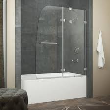 frameless bathtub doors home depot. beautiful frameless bathtub swing door 150 dreamline aqua uno in tub door: full doors home depot