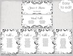 Party Seating Chart Template