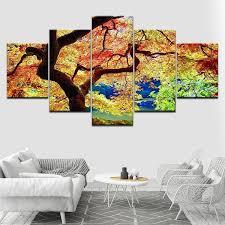 Buy Maple 5 Piece Wall <b>Art</b> Canvas Print <b>Modern Poster Modular Art</b> ...