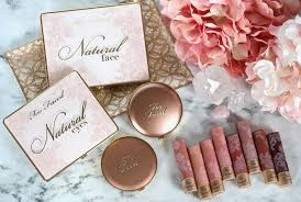 the too faced it just es naturally collection is just so darn pretty the packaging is lovely soft pink and gold with beautiful lace deling