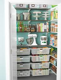 Modern Kitchen Design with Small Walk In Pantry Storage, 4 Tier Steel  Shelves, and
