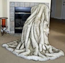 faux animal skin rugs new faux fur throw blanket white husky faux fur fake fur blanket