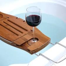 wooden bath wine holder glass of red bathtub book kmart rack and tray ideas book holder bathtub