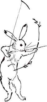 猪飼弓具店公式 On Twitter ウサギとカエルが弓矢を持つ姿も
