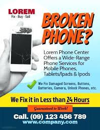Computer Repair Price List Template Smartphone Flyer Label
