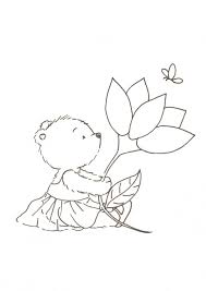 Bear With Flower Digistamps Pinterest Bears Flower And