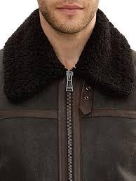 men shearling jacket men shearling sheepskin leather jacket