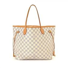 louis vuitton neverfull white. of this vintage louis vuitton neverfull mm tote is guaranteed by lxrandco. refined bag was crafted in damier azur coated canvas beautiful white. white