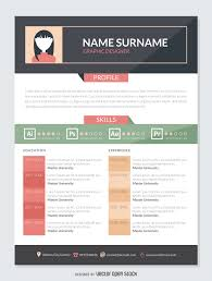 graphic designer resume cv vector graphic designer resume mockup template