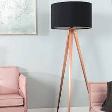 tripod copper floor lamp in black lamps retro studio gold bardot antique uk vintage style best with wooden frames combined rounded shade also dark accents
