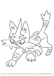 Learn How To Draw Torracat From Pokemon Sun And Moon Auto
