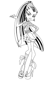 Small Picture Monster High Coloring Pages Tiny Hands Pinterest Monster