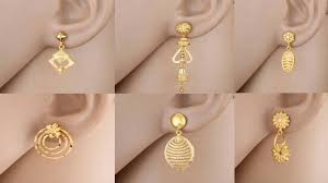 Designer Earrings Rings Liked The Flower With Circles The Most Gold Earrings