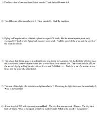 writing equations from word problems worksheet along with solving systems equations algebraically worksheet inspirational