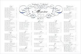 sample wedding seating chart table plan template word free g fl poster editable card edit in
