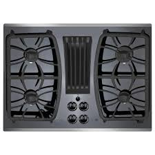 gas cooktop with vent. Interesting With GasonGlass DownDraft Gas Cooktop In Stainless Steel With Intended With Vent N