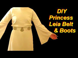 princess leia costume tutorial part 3 belt and boots