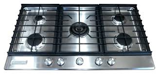36 inch gas cooktop with downdraft gas downdraft in stainless steel with 5 burners kitchenaid 36
