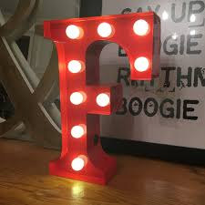 Battery Powered Light Up Letters Vintage Carnival Style Marquee Light Light Up Letter F