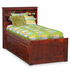 kids twin beds with storage. Kids Furniture - Ranger Merlot Twin Bookcase Bed With 3-Drawer Storage \u0026 Trundle Beds