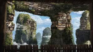 Upside Down Art Mountains Palaces Upside Down Birds Art Render Hd