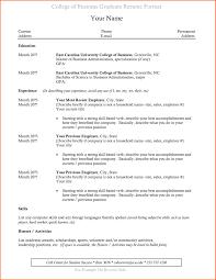 Recent College Graduate Resume Sample New Recent College Graduate