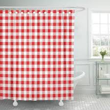 shower curtain woven red and white gingham abstract checd diagonal flannel geometric linen madras bathroom curtains