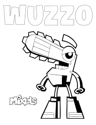 Small Picture mixel coloring page my little corner Lego Mixels Pinterest