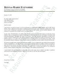 Sample Elementary Teacher Resumes Teaching Cover Letter Example ...